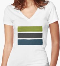 Stripes No.01 Women's Fitted V-Neck T-Shirt