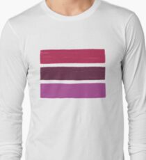 Stripes Lipstick No.02 Long Sleeve T-Shirt