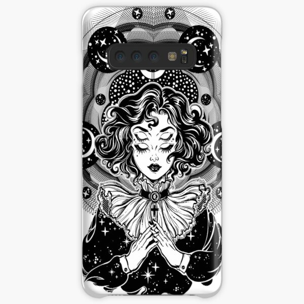 Girl portrait with four eyes, sacred space circle. Samsung Galaxy Snap Case