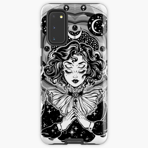 Girl portrait with four eyes, sacred space circle. Samsung Galaxy Tough Case