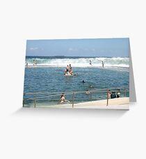 Newcastle Ocean Baths Greeting Card