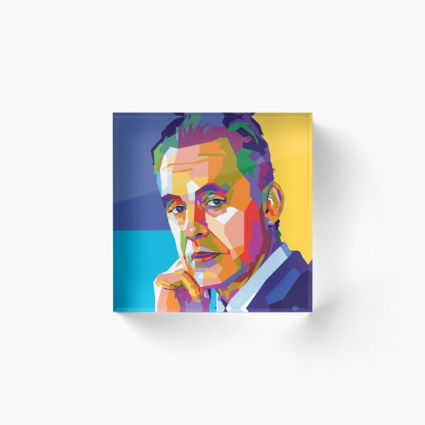 Jordan Peterson - Father of the Internet (Abstract) Acrylic Block