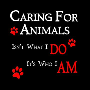 Caring For Animals Cute Cat Dog Pet Lover Design by overstyle