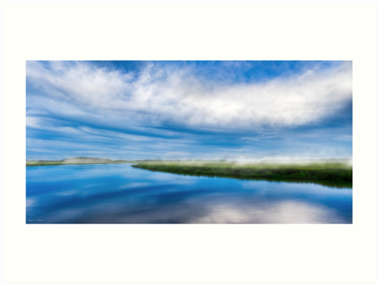 Moon River Blues - Georgia Landscape Panorama by Mark Tisdale