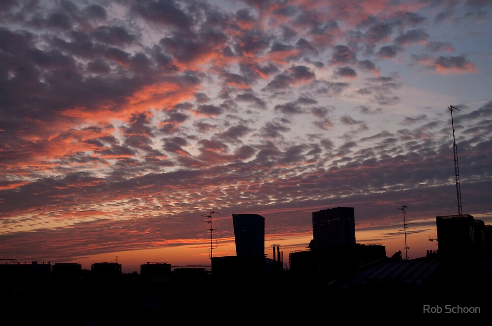 Sunrise in Lille, France by Rob Schoon