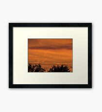 Mars sunset lookalike Framed Print