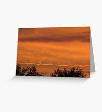 Mars sunset lookalike Greeting Card