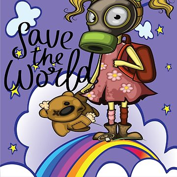 Save the World Pollution Girl Pollution Rise Rainbow Against Pollution Polluted World by ProjectX23