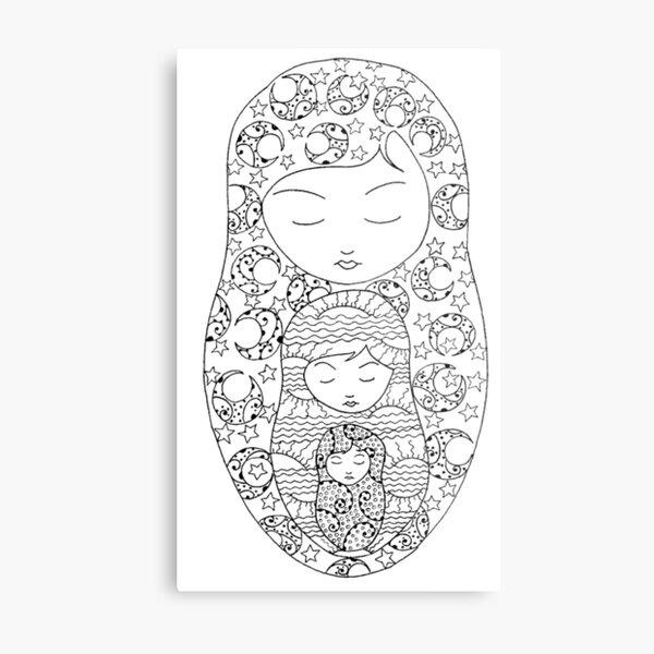 Grandmother Mother Daughter Metal Print