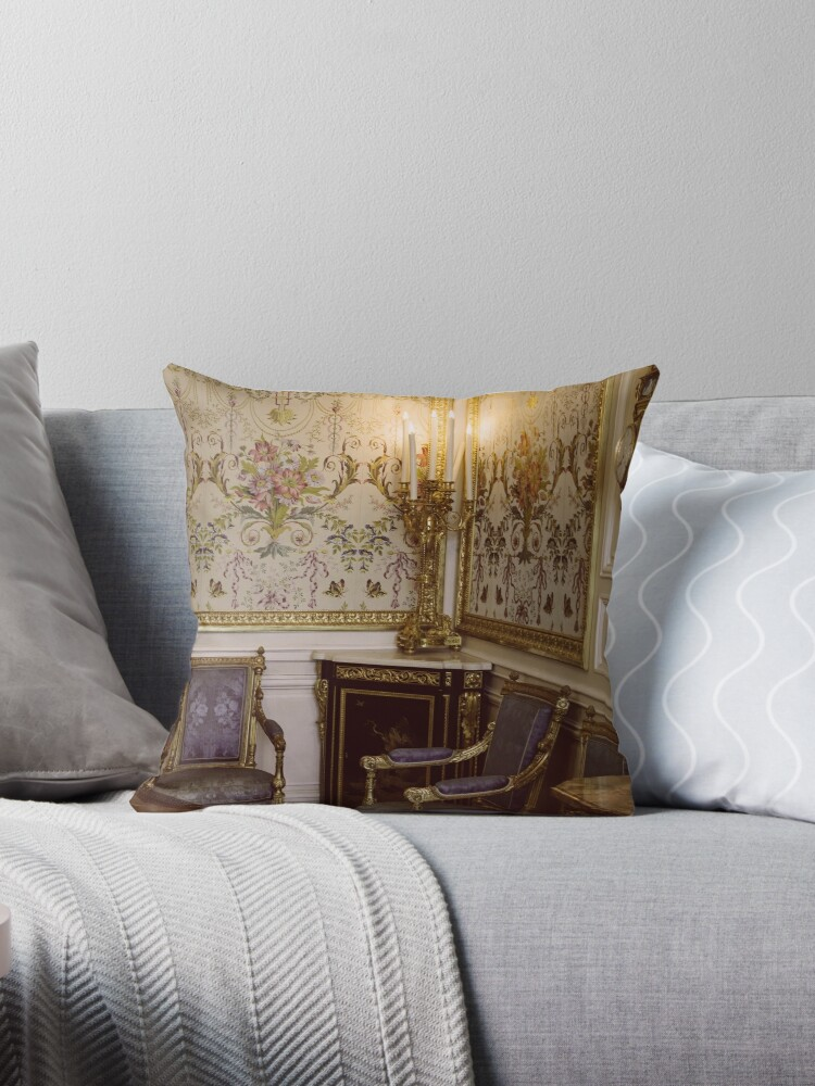 Rococo Architecture Throw Pillow By Patidesigns Redbubble
