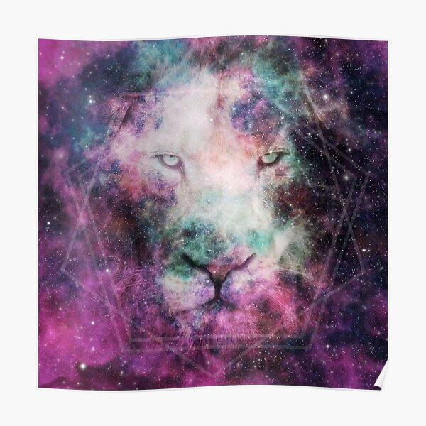 Galaxy Lion Poster