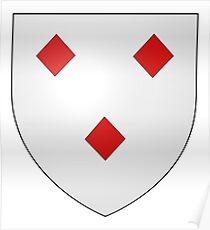 French France Coat of Arms 17240 Blason Lantivy Leviston Poster