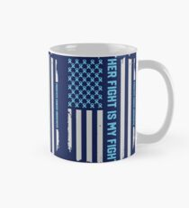 Prostate Cancer Awareness Ribbon American Flag Mug