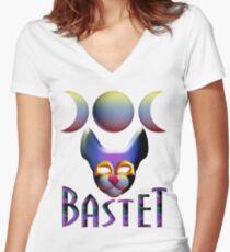 Bastet Women's Fitted V-Neck T-Shirt