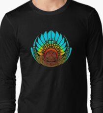 1f8ce610b Mayan mask, crop circle, Quetzalcoatl Long Sleeve T-Shirt