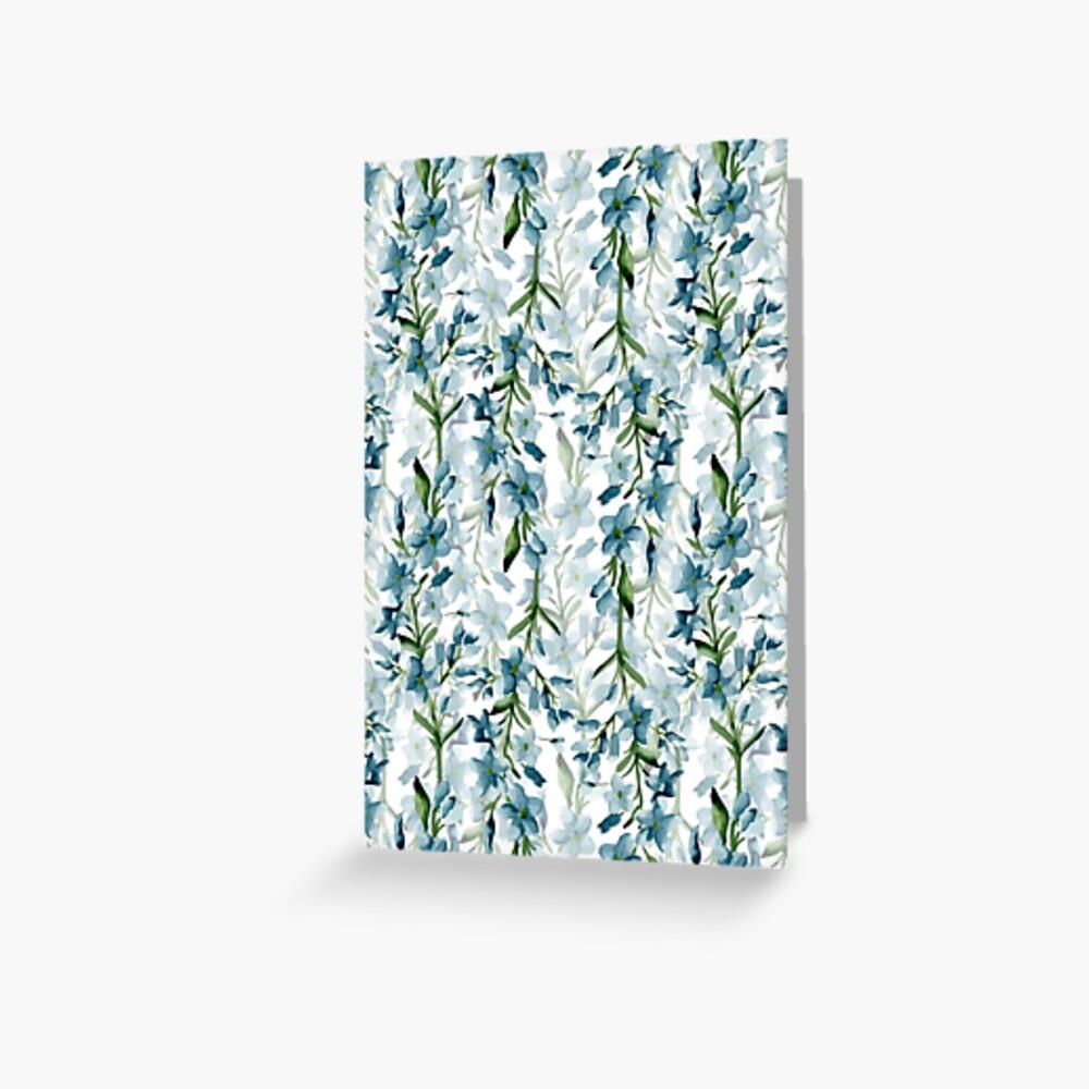 Ramas azules Tarjetas de felicitación