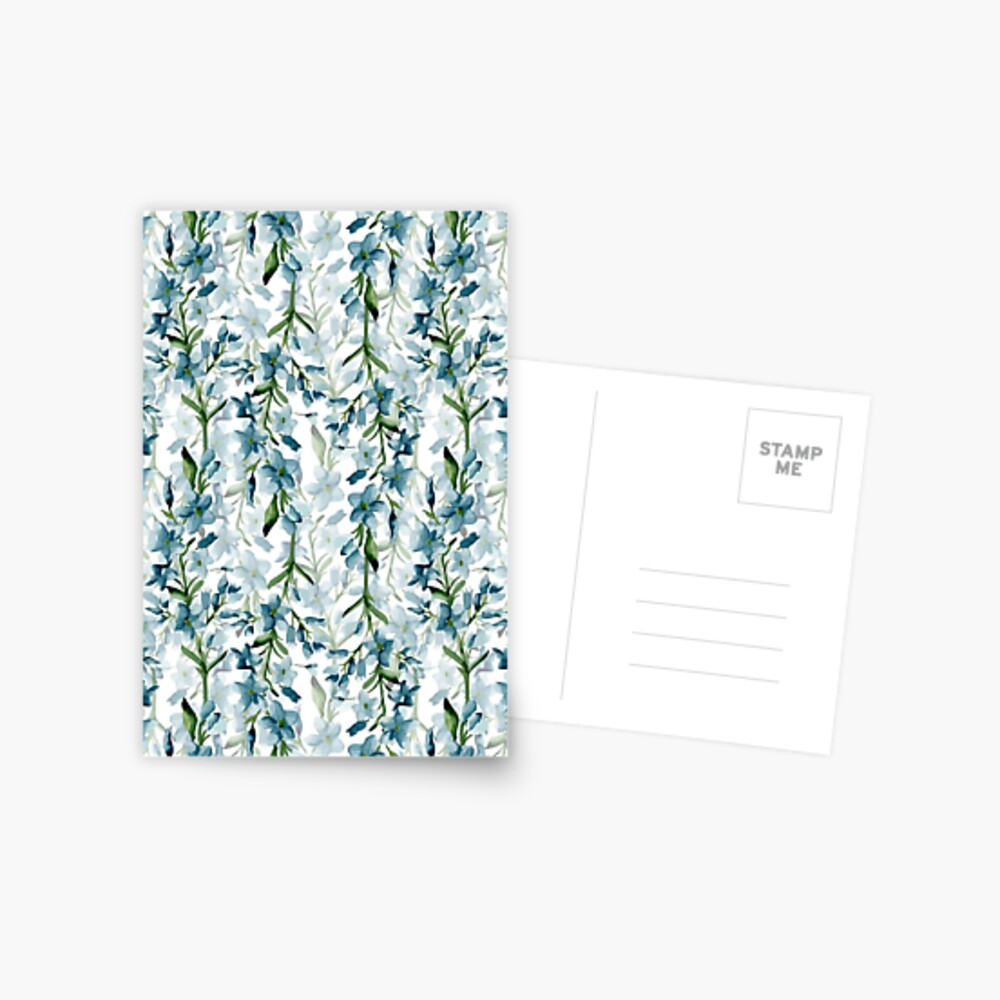Blue branches Postcard
