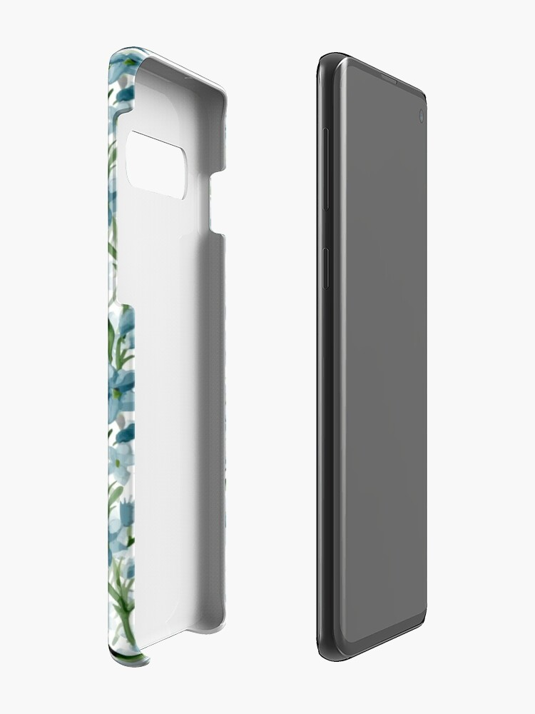Alternate view of Blue branches Case & Skin for Samsung Galaxy