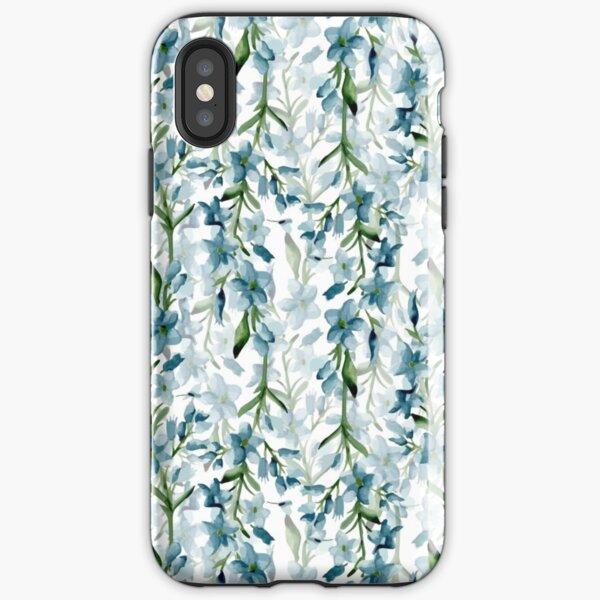 Branches bleues Coque antichoc iPhone