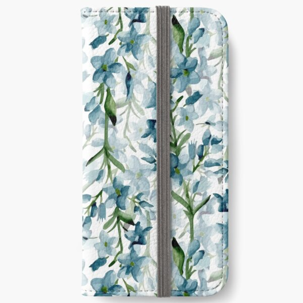 Blue branches iPhone Wallet