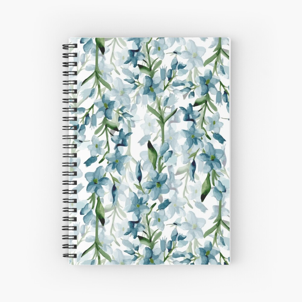 Blue branches Spiral Notebook