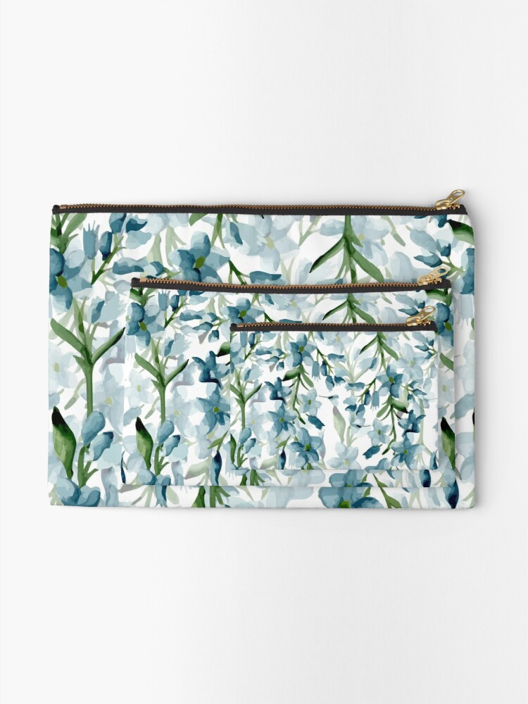 Alternate view of Blue branches Zipper Pouch