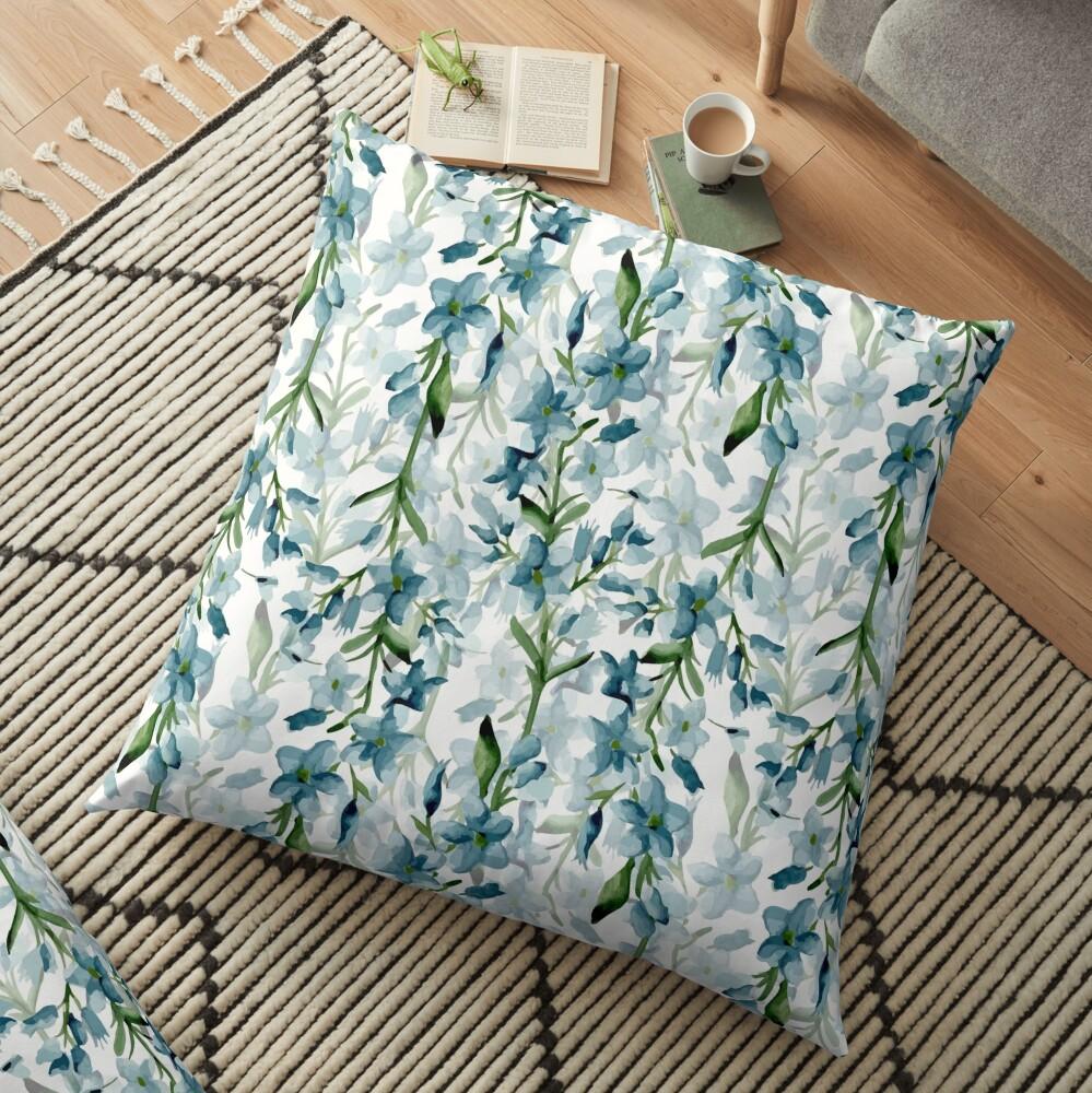 Blue branches Floor Pillow