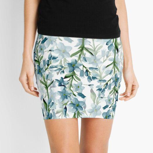 Blue branches Mini Skirt