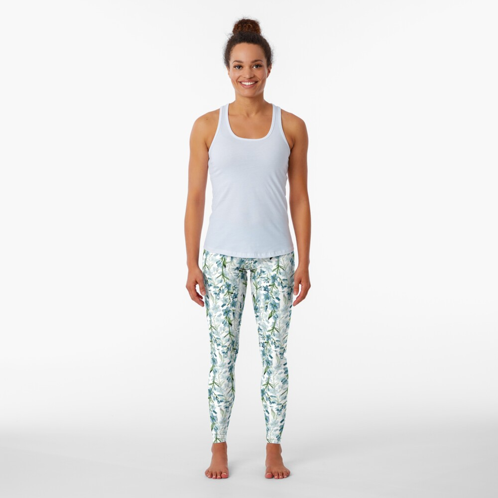 Blue branches Leggings