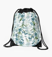 Blue branches Drawstring Bag