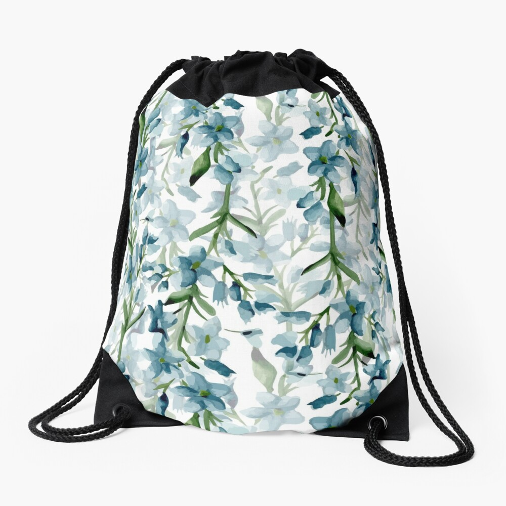 Blue branches Drawstring Bag