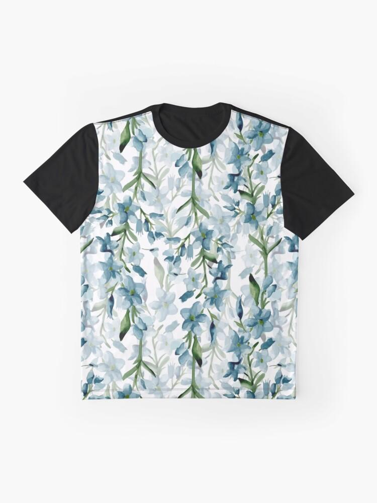 Vista alternativa de Camiseta gráfica Ramas azules