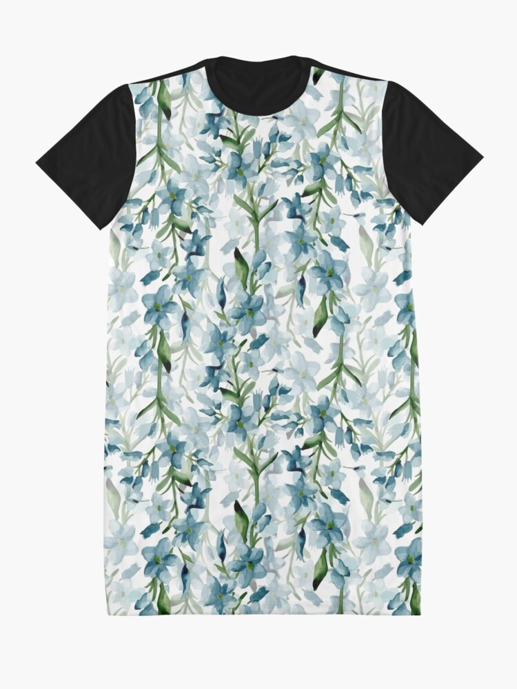 Alternate view of Blue branches Graphic T-Shirt Dress