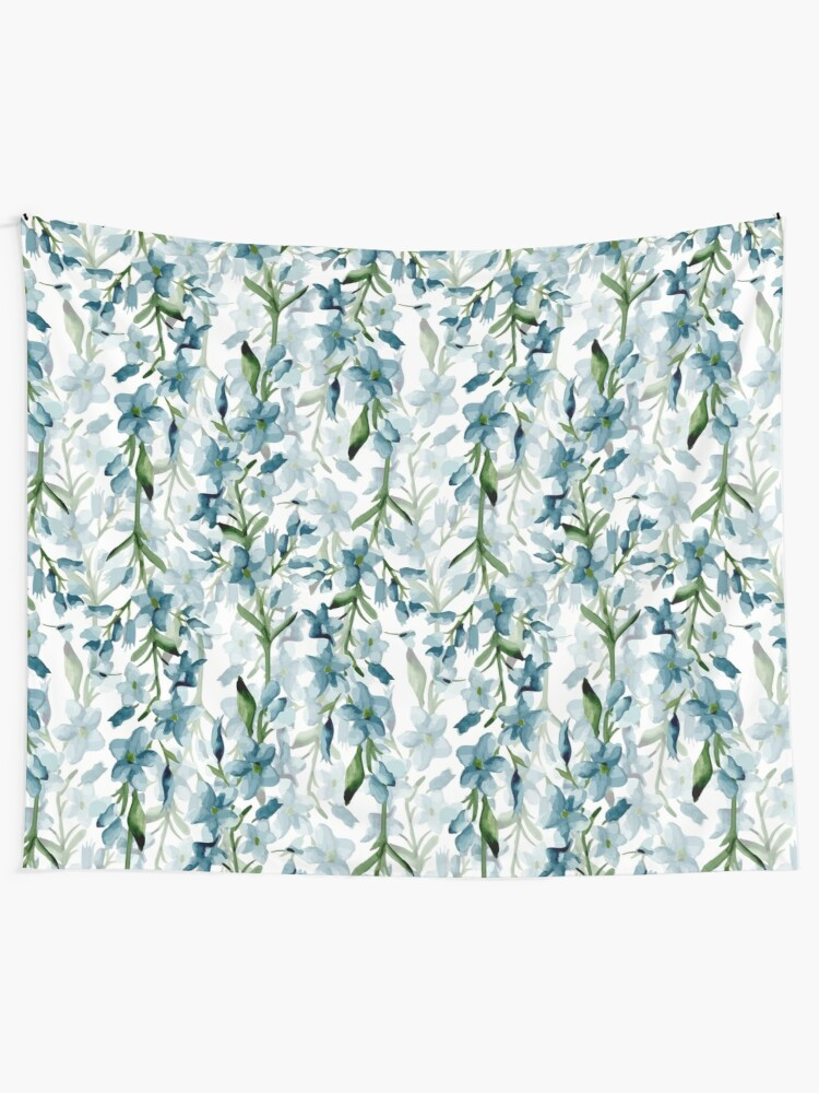 Alternate view of Blue branches Tapestry