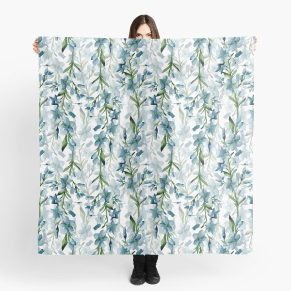 Blue branches Scarf