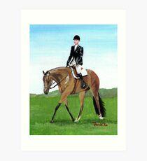 The Hunt Seat Horse Quarter Horse Portrait Art Print