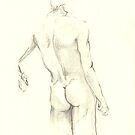 nude in pencil 4 by Arzeian