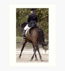 Dressage Horse Portrait Art Print