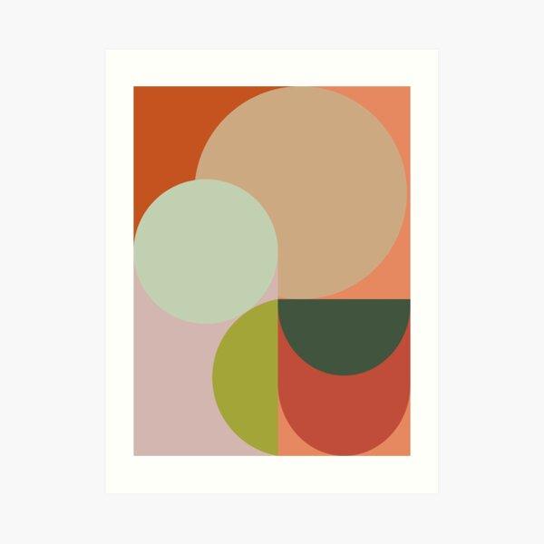 Abstract Geometric 2 #fallwinter #colortrend #decor  Art Print