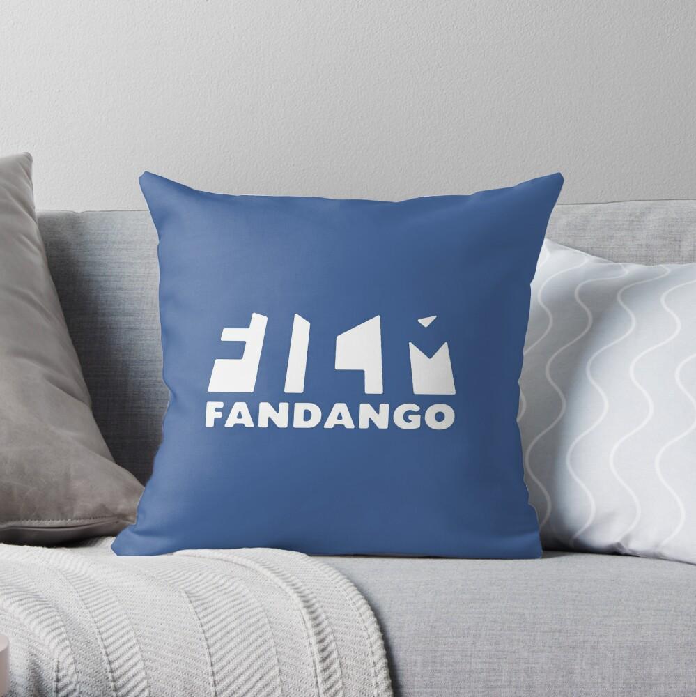 Film Fandango Logo - WHITE Throw Pillow
