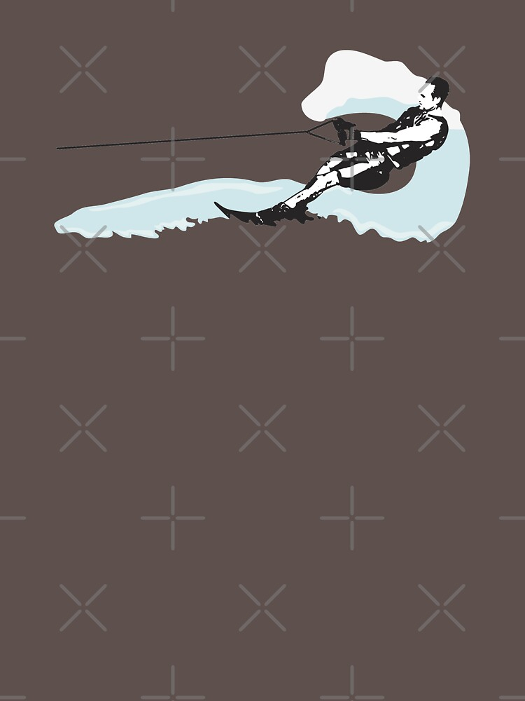 Water Skiing Design Mens  by kudostees
