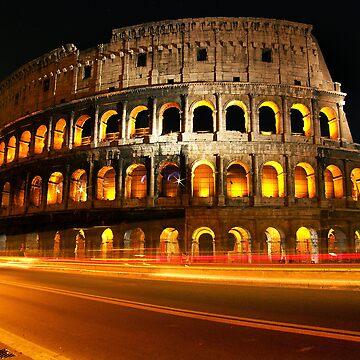 Roman Coliseum with light trails by contactchrisx1
