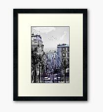 Vintage Paris From Above Framed Print