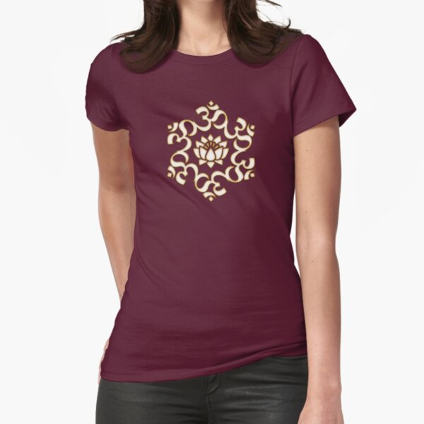 OM LOTUS - Buddhism - Symbol of spiritual strength  Fitted T-Shirt