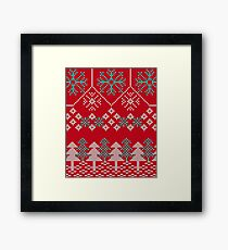 Ugly Sweater - Red Framed Print