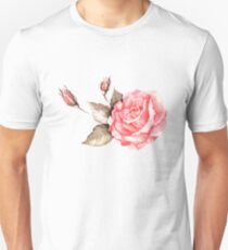 Watercolor rose Unisex T-Shirt