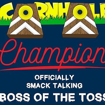 Cornhole Champion - Funny Cornhole Trophy Gift by yeoys