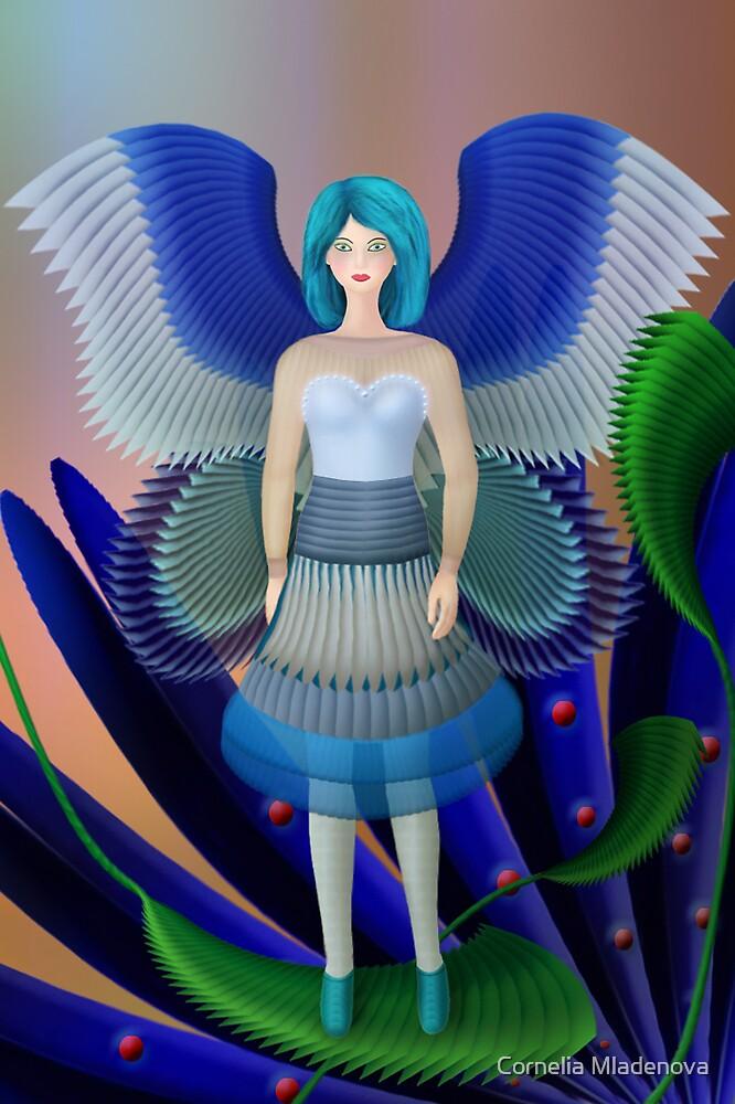 Blue WIngs by Cornelia Mladenova