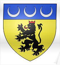 Póster French France Coat of Arms 17244 Blason Laragne Monteglin