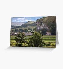 Kilnsey's Limestone Crag Greeting Card